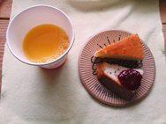 作業後にフェンネルのお話とケーキ&ブレンドジュースで一息つきました✿
