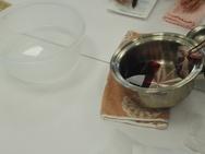 ハンドバスはワインを温めてハーブを投入!贅沢です☆